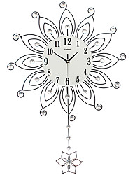 Modern/Contemporary Houses Wall Clock,Others Acrylic / Glass / Metal 55*82CM Indoor Clock