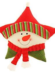 baratos -Brinquedos de Natal Almofadas Brinquedos Ternos de Papai Noel Elk Boneco de neve Artigos de mobiliário Têxtil 3 Peças