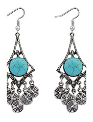 cheap -Drop Earrings Resin Alloy Fashion Blue Jewelry Daily 1 pair