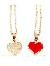 Feminino Colares com Pendentes Formato de Coração Liga Amor bijuterias Moda Jóias Para Festa