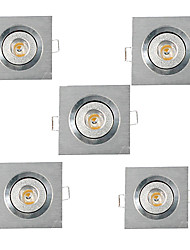 5pcs 3W 200-300LM Support Square LED Panel Lights LED Ceiling Lights