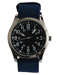 billige -Herre Armbåndsur Quartz Afslappet Ur / Stof Bånd Analog Afslappet Mode Marine - Mørkeblå