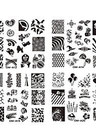 economico -10pcs nail plate - Altre decorazioni - Fiore - Dito / Dito del piede - di Metallo - 6.2cmX6.2cm each piece