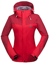 cheap -Women's Hiking Jacket outdoor Spring Softshell Jacket Full Length Visible Zipper Skiing Windproof / Breathable / Quick Dry / Thermal / Warm / Waterproof / Winter