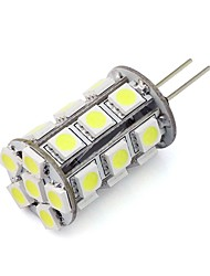 cheap -200lm G4 LED Bi-pin Lights Tube 24 LED Beads SMD 5050 Dimmable Decorative Warm White Cold White Green Blue Red 12-24V 12V