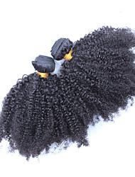 Недорогие -Монгольские волосы Классика Кудрявое плетение Афро Кудрявый вьющиеся Ткет человеческих волос Высокое качество 0.3 Повседневные