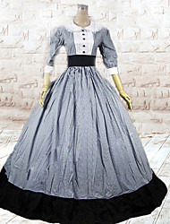 abordables -Epoque Médiévale Victorien Costume Femme Robes Costume de Soirée Bal Masqué Vintage Cosplay Coton Long