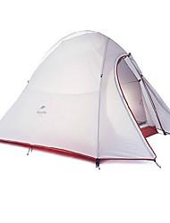 Naturehike 3-4 Pessoas Tenda Abrigo e Lona Encerada Duplo Barraca de acampamento Um Quarto Barracas de Acampar Leves Bem Ventilado