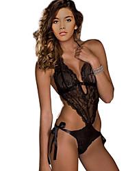 Ultra Sexy Body Vêtement de nuit Femme Couleur Pleine Dentelle Noir