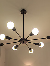 cheap -Wrought iron 8 heads Multiple rod Pendant Lights Creative Retro nostalgia Living Room Dining Room Chandelier