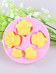economico -piccole torte della torta del fondente stampi in silicone cioccolato, attrezzi della decorazione bakeware