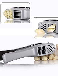 cheap -2 in 1 Garlic Presser Slicer Silver Cast Clip Crusher Squeezer Aluminum Kitchen Utensil Kitchen Tools