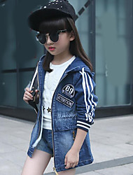 Girl's Casual/Daily Solid JeansCotton Summer Blue