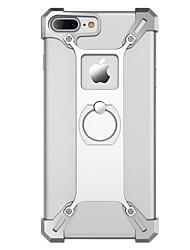 Per Custodie cover Resistente agli urti Supporto ad anello Custodia posteriore Custodia Tinta unita Resistente Metallo per AppleiPhone 7