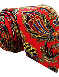 cheap -Mens Necktie Tie red Floral 100% Silk Casual Fashion For Men