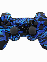 Joystick inalámbrico bluetooth dualshock3 sixaxis controlador recargable gamepad para ps3 (multicolor)