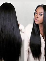 Недорогие -Не подвергавшиеся окрашиванию Полностью ленточные Парик Nicki Minaj стиль Бразильские волосы Прямой Яки Парик 130% 150% Плотность волос / Парик в афро-американском стиле / с детскими волосами