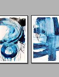 economico -iarts blue art sea painting dipinto a mano 2 pannelli incorniciati moderni due pannelli dipinti ad olio su tela