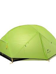 Недорогие -Naturehike 2 человека Туристические палатки На открытом воздухе Компактность, С защитой от ветра, Дожденепроницаемый Двухслойные зонты Палатка >3000 mm для Пешеходный туризм Походы Путешествия