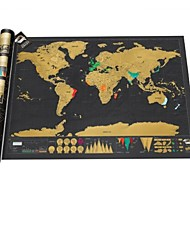 Scratch Map Deluxe Edition Travel Vacation Personalized Log Scratch off World Laminate(USLUKSD)