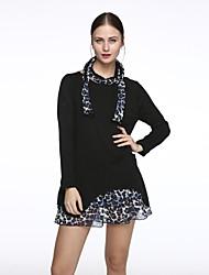 baratos -Mulheres Tamanhos Grandes Solto Vestido Quadriculada Mini