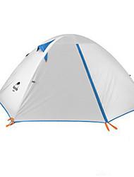 Недорогие -4 человека Туристические палатки На открытом воздухе Компактность Сохраняет тепло Влагонепроницаемый Трёхслойный Палатка >3000 mm для Охота Походы Путешествия Силикон холст Алюминий