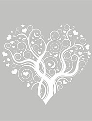 AYA™ DIY Wall Stickers Wall Decals, Heart Florals Pattern PVC Wall Stickers