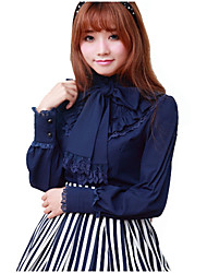 cheap -Blouse/Shirt Sweet Lolita Dress White Black Blue Red Lolita Accessories Blouse Spandex Polyester