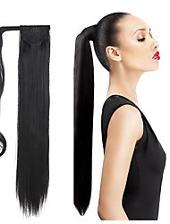 povoljno -24 inčni Crna Tamnosmeđa Srednje smeđa # 6 #P27.613 S kopčom Ravan kroj sintetički Kose za kosu Ugradnja umetaka