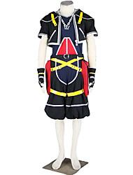 Недорогие -Вдохновлен Kingdom Hearts Косплей Аниме Косплэй костюмы Японский Косплей Костюмы Однотонный Пальто / Брюки / Перчатки Назначение Муж.
