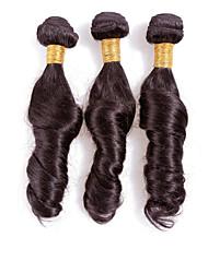 Недорогие -Бразильские волосы Классика Естественные кудри Ткет человеческих волос 3 предмета Высокое качество 0.3 Повседневные