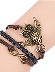 Women's Bangles Multi Layer Handmade Alloy Infinity Owl Jewelry For Birthday Daily