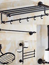 Jogo de Acessórios para Banheiro Antigo 140 63 Barra para Toalha Suporte para Sabonete Prateleira de Banheiro Suporte para Escova de
