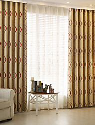 cheap -Blackout Curtains Drapes Kids Room Stripe Polyester Jacquard