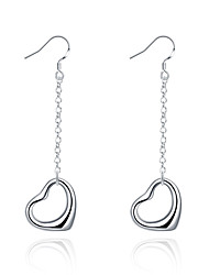cheap -Women's Drop Earrings Love Simple Style Copper Silver Plated Heart Jewelry Silver Wedding Party Daily Casual Sports Costume Jewelry