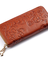 Women Bags All Seasons Cowhide Wallet for Wedding Event/Party Casual Formal Office & Career Black Coffee Red Light Brown Royal Blue