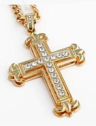 Per uomo Da donna Collane con ciondolo A croce Lega Pendente bigiotteria Gioielli Per Matrimonio Feste Quotidiano Regali di Natale