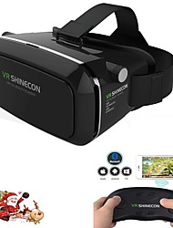 Virtual Reality Headset VR Shinecon 3D Movie Game Glasses for Smartphone whi  Remote Gamepad
