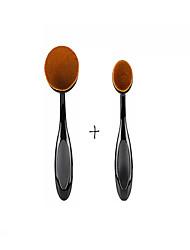 2PCS Big & Small Oval Makeup Tool SET Cosmetic Foundation Cream Powder Blush Makeup Brush
