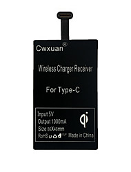 Cwxuan® Ultrathin Portable Type-C Qi Wireless Charger Receiver for Type-C Mobile Phones
