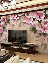 cheap -JAMMORY Art DecoWallpaper For Home Wall Covering Canvas Adhesive required Mural Pink Large Flowers XL XXL XXXL