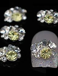 10stk mix rhinestone gruppe glitter DIY legering tilbehør nail art dekoration