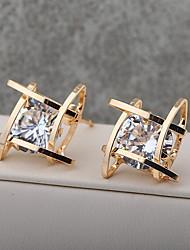 economico -Per donna Cristallo Orecchini a bottone Orecchini a goccia - Placcato in oro Oro / Argento Per Matrimonio Feste Casual