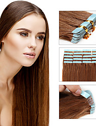 cheap -Double Tape in Human Hair Extensions Remy Brazilian Tape In Extensions 30g - 50g 20pcs/pack Straight Tape Hair Extensions