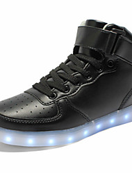 cheap -Unisex Sneakers Spring Summer Fall Winter Comfort Novelty Light Up Shoes PU Outdoor Casual Athletic Flat Heel Lace-up Hook & Loop LED