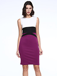 Women's Fashion Bodycon Work / Casual / Day Sleeveless Slimming Dress