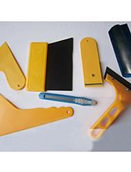7pcs finestrino auto raschietto wrapping tinta pellicola vinilica tool kit di pulizia seccatoio