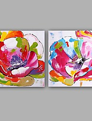 cheap -Oil Painting Hand Painted - Floral / Botanical Classic European Style Canvas