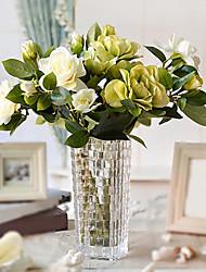 """17 """"h gardenia classico nella disposizione vaso di vetro"""