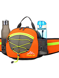 cheap -15 L Waist Bag / Waistpack / Shoulder Bag / Backpack - Waterproof, Reflective, Rain-Proof Outdoor Camping / Hiking, Cycling / Bike, Traveling Mesh, Nylon, Waterproof Material Black, Orange, Red
